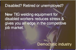 Stress-busting welding equipment designed for disabled workers